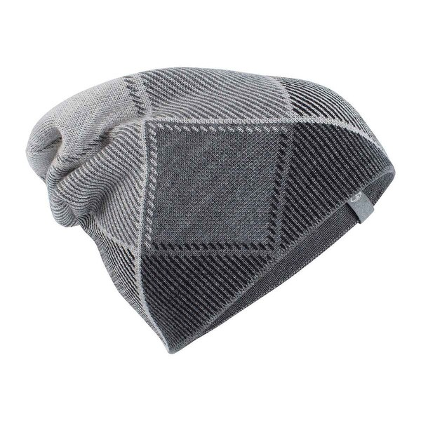 89a71208433 Shop Icebreaker 2017 18 Adult Helix Slouch Beanie - 104014 - gritstone  heather black blizzard heather - Free Shipping Today - Overstock - 19381008