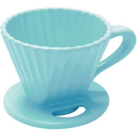 Chantal 92-FLTL63-SQ Lotus ceramic coffee cone filter, 8 Ounce, Aqua