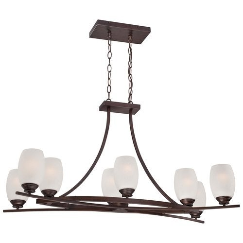 Minka Lavery 4958-267B 8 Light 1 Tier Chandelier from the City Club Collection