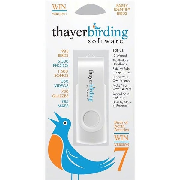 Thayers Birds of North America Version 7 USB Flash Drive Windows