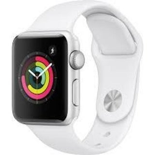 Apple Watch Series 3 (GPS), 38mm Silver Aluminum Case with White Sport Band - Silver Aluminum
