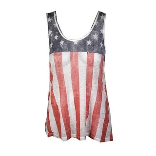 Denim Supply Cream Flag-Graphic Slouchy Tank Top XL