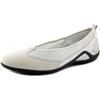 Ecco Vibration II Women Round Toe Leather Flats
