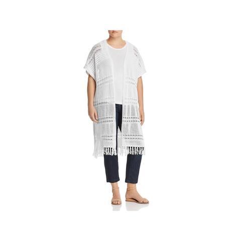 Lysse Leggings Womens Plus Cardigan Sweater Crochet Wrap - 1X/2X