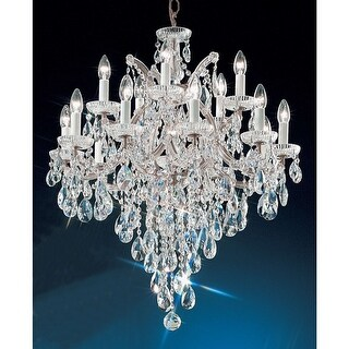 "Classic Lighting 8126-CH 33"" Crystal Traditional Chandelier from the Maria Thersea Collection"
