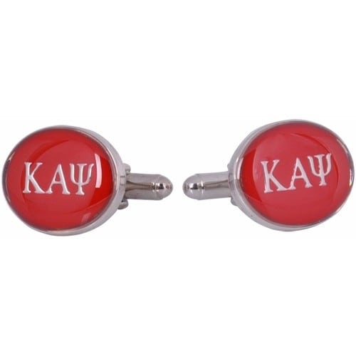 Kappa Alpha Psi Red Silver Fraternity Greek  Cufflinks