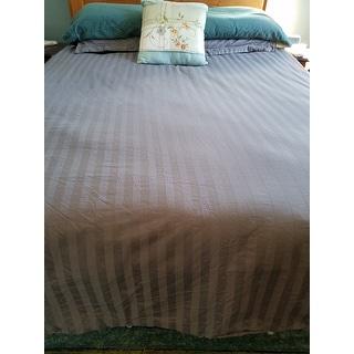 Andiamo Egyptian Cotton Woven Stripe 3-piece Duvet Cover Set