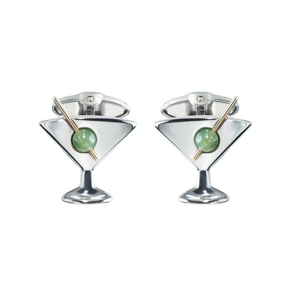 Dolan Bullock Sterling Silver Men/'s Martini Cufflinks