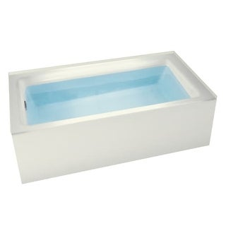"Miseno MNO3260WAS-L Vitality 60"" Three Wall Alcove Soaking Bathtub - Self Leveling Base and Overflow Drain Kit Included Free"