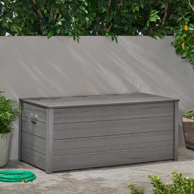 Alberta Outdoor Wood Resin Outdoor 150 Gallon Storage Deck Box by Christopher Knight Home