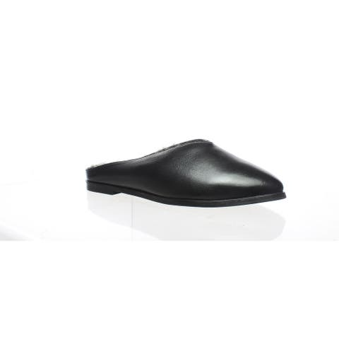 Seychelles Womens Stage Black Leather Mules Size 6
