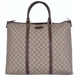 New Gucci 201482 GG Plus Canvas Zip Top Men's Travel Luggage Tote Bag
