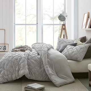 Farmhouse Morning Textured Bedding - Oversized Comforter - Glacier Gray