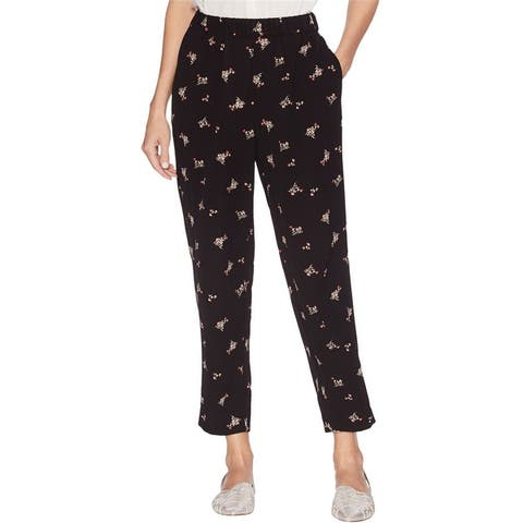 Vince Camuto Womens Floral Casual Cropped Pants