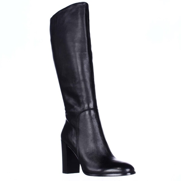 Kenneth Cole New York Justin Heeled Knee High Dress Boots, Black