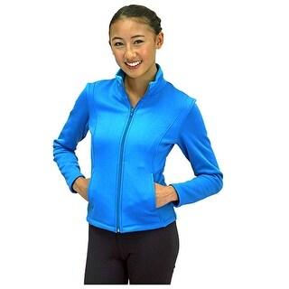 Chloe Noel Blue Texture Fleece Ice Skating Jacket Little Girls 4-12