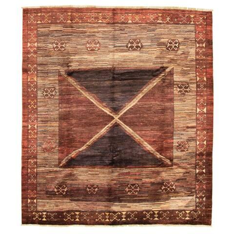 ECARPETGALLERY Hand-knotted Peshawar Ziegler Brown Wool Rug - 8'3 x 9'6