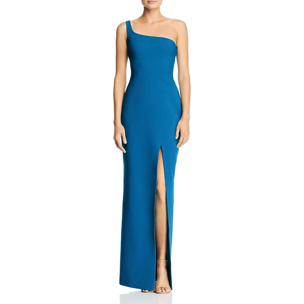Likely Womens Camden Formal Dress One Shoulder Side Slit