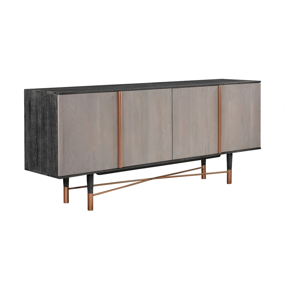 79″ Wooden Sideboard with 4 Cabinets