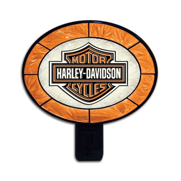 Harley-Davidson Orange Art Glass Nightlight - multi