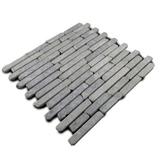 Miseno MT-L3RGY Strip Mosaic Natural Stone Tile (9.9 SF / Carton)