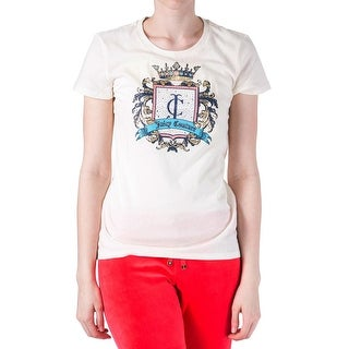 Juicy Couture Black Label Womens Baroque Embellished Cotton T-Shirt - XS