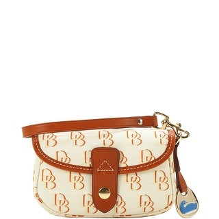 Dooney & Bourke Shadow DB Flap Wristlet (Introduced by Dooney & Bourke at $58 in Feb 2012) - beige cream red