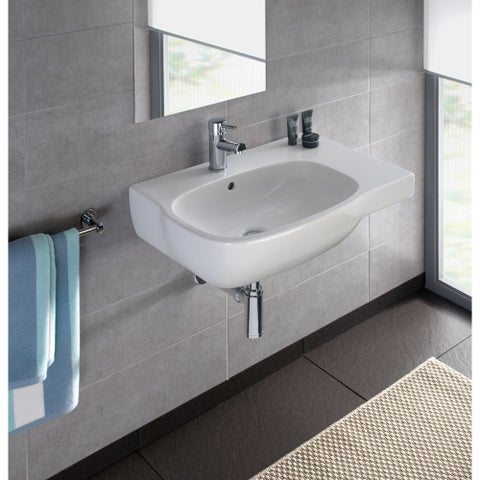 """Bissonnet Moda 65-R Moda 25-5/8"""" Vitreous China Wall Mounted Bathroom Sink with - White"""