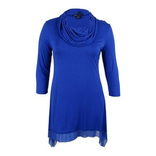 Cable & Gauge Women's 3/4 Sleeve Cowl Neck Tunic Top - xL