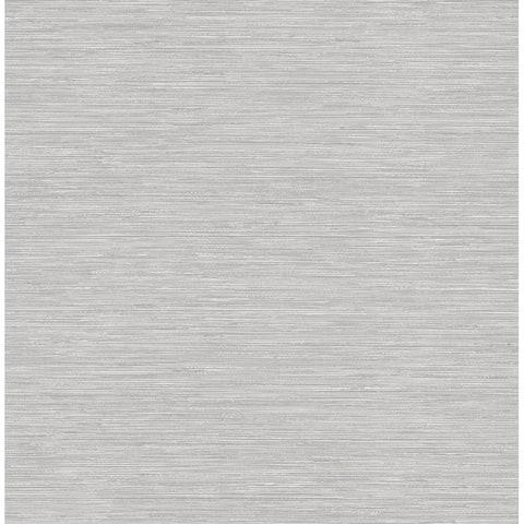 Cantor Grey Faux Grasscloth Wallpaper