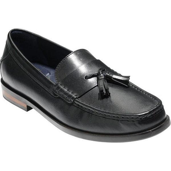 ac133285783 Cole Haan Men  x27 s Pinch Friday Tassel Contemporary Loafer Black Hand  Stain Leather