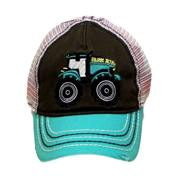Farm Boy Western Hat Boys Tractor Mesh Jungle Green