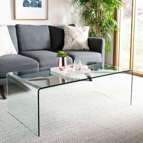 "SAFAVIEH Willow Clear Coffee Table - 47.2"" x 25.6"" x 16.5"""