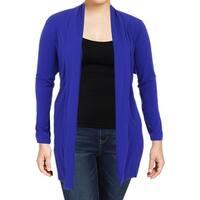 Calvin Klein Womens Plus Cardigan Top Long Sleeve Open Front