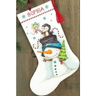 """Jolly Trio Stocking Counted Cross Stitch Kit-16"""" Long 14 Count"""