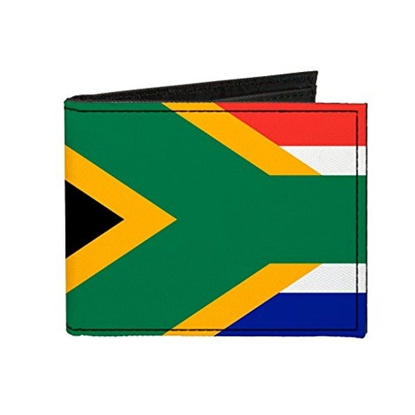 Buckle-Down Canvas Bi-fold Wallet - South Africa Flag Accessory