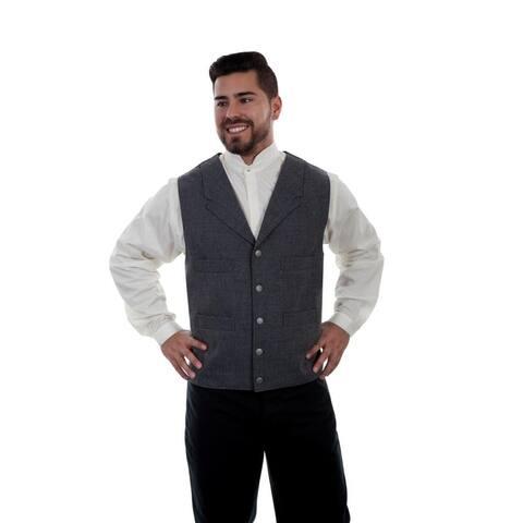 Scully Western Vest Mens 4 Pocket Button Front Wahmaker - Heather Grey
