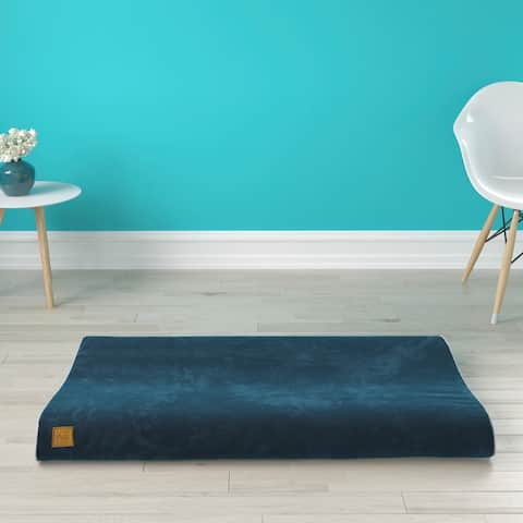 Pup Pup Kitti Bliss Orthopedic Breathable Dog Bed Pillow Mattress Cushion, Blue