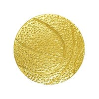 Simba CL012 1 in. Chenille Basketball Lapel Pin, Bright Gold