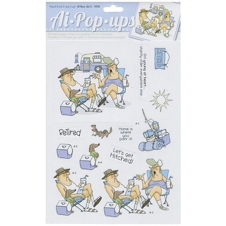 "Art Impressions Pop-Ups 4 Sheets W/2 Designs 8.25""X11.75""-Deco Set 5"