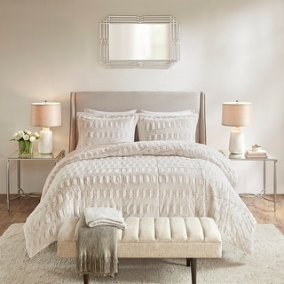 Link to Madison Park Margot Back Print Long Fur Comforter Set Similar Items in Comforter Sets