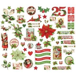 Simple Vintage Christmas Bits & Pieces Die-Cuts 55/Pkg-
