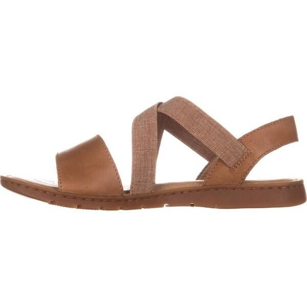 Born Womens Britton Leather Open Toe Casual Slide Sandals