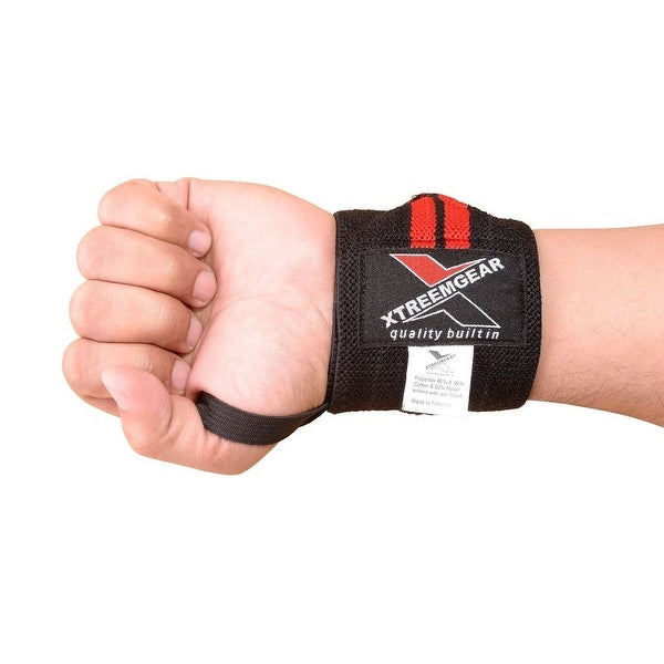 Weight Lifting Wrist Wraps Support Fitness Training Gym Bandage Straps Black B-1