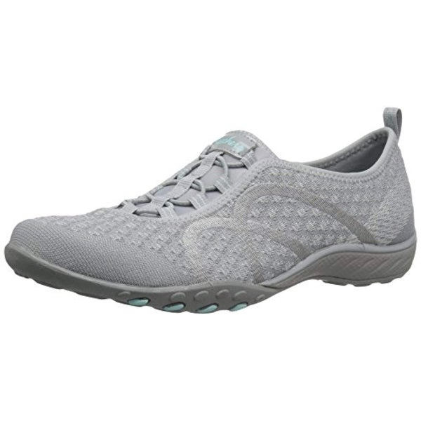 Skechers Sport Women's Breathe Easy Fortune Fashion Sneaker,Grey Knit,6 M US