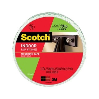 "3M 110-LONG Scotch Mounting Tape, White, 3/4"" x 350"""