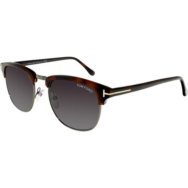 0bd0dd81c44a Tom Ford Men  x27 s FT0248-52A-53 Tortoiseshell Square Sunglasses. Click to  Zoom