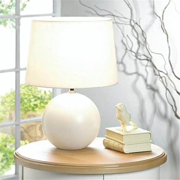 Shop Gallery Of Light 10018015 Round Base Table Lamp White Free