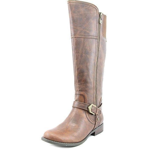 G By Guess Hailee Women Round Toe Synthetic Brown Knee High Boot