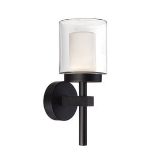 "Modern Forms WS-W1815 Deco 15"" Indoor/Outdoor Dimmable LED Wall Light"